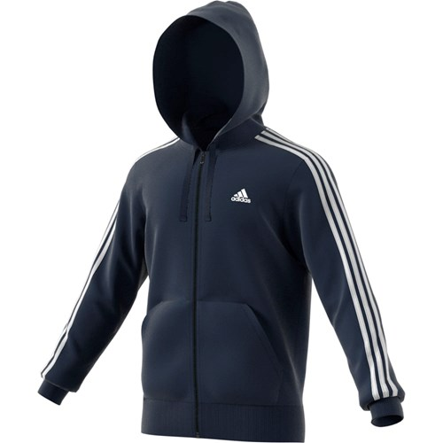 Adidas Essentials 3-Stripes fleecehættetrøje herre